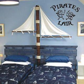 Pirates Lair / Cute Kids Room Decor / Vinyl Wall Decal