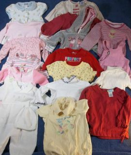 Huge Lot of 16 Fal/ Winter Baby Girls Clothes Outfits Size 3 6 6 9