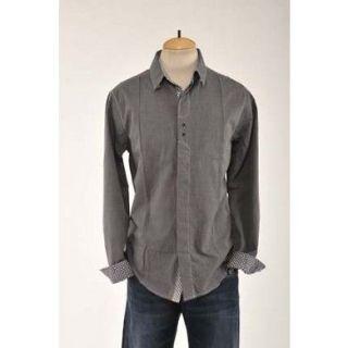 Mens Charcoal Woven Beatles ENGLISH LAUNDRY JOHN LENNON Shirt Size M