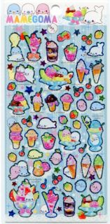 San X Mamegoma Seal Sticker Sheet #6