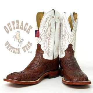 Tony Lama Almond Royal Caiman Boots Y2424