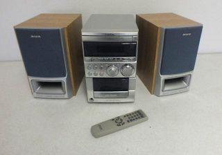 aiwa xr em50 cd shelf audio system brand new. Black Bedroom Furniture Sets. Home Design Ideas