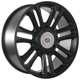 24 Inch Cadillac Escalade Matte Black Wheels Rims