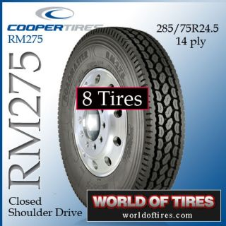 tires   semi truck tires Roadmaster RM275 24.5lp 24.5 285 75 24.5
