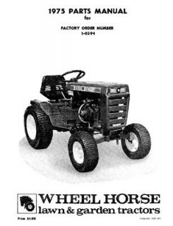 Wheel Horse Tractor Parts Manual C 100 4 speed 1 0394
