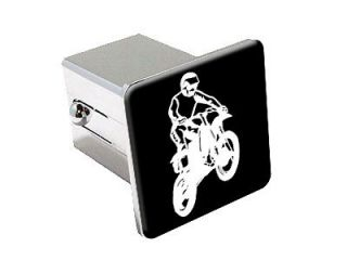 Dirt Bike   Chrome Tow Trailer Hitch Cover Plug