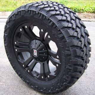 20 XD MONSTER WHEELS & NITTO TRAIL GRAPPLER TIRE 6 LUG SILVERADO GMC