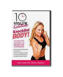 10 Minute Solution Knockout Body Workout Kit w Weighted Gloves DVD, v