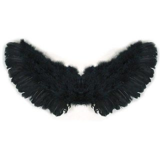 Black Feather Angel Wings Halo Small Child Toddler Kids cosplay