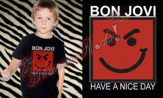 BON JOVI HAVE A NICE DAY T SHIRT TEE TODDLER UNISEX