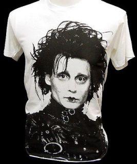 EDWARD SCISSORHANDS Johnny Depp Retro Movie T Shirt L