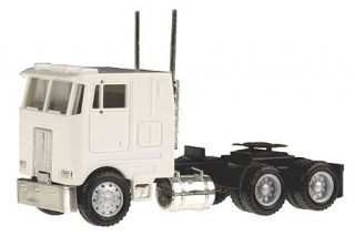 Herpa Promotex HO PB Pete Peterbilt COE Single 3 axle w/ sleeper WHITE