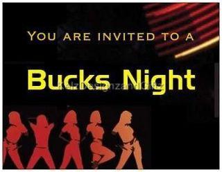 25 x Blank Male 18th, 21st Birthday Party or Bucks Night Invitations