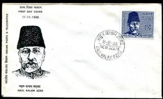 India 439 FDC Abdul Kalam Azad 1888 58 president of the All India