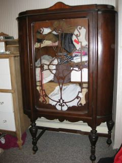 Antique Vintage Wood China Cabinet