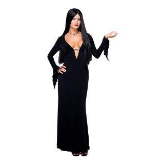MORTICIA ADDAMS wig adams family vampire goth womens halloween costume