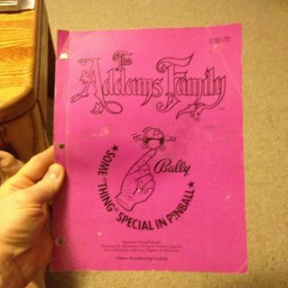 The Addams Family By Williams Pinball Operations/Service/Repair Manual