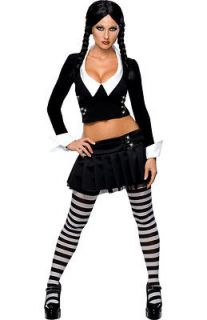 Womens Adult Sexy THE ADDAMS FAMILY Wednesday Costume