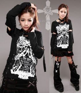Unisex Jrock Ninja Killer Visual Kei Strings Rockabilly Choker Sleeve