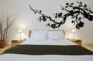 Japanese cherry blossom tree branch Vinyl WALL MURAL DECAL sticker 3