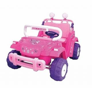 kids battery powered ride on toy 2 seats seater pink girls jeep sale
