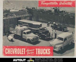1948 Chevrolet Truck Brochure COE Tractor Trailer Pickup Panel