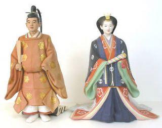 HAKATA DOLL SET   EMPEROR AKIHITO AND EMPRESS MICHIKO