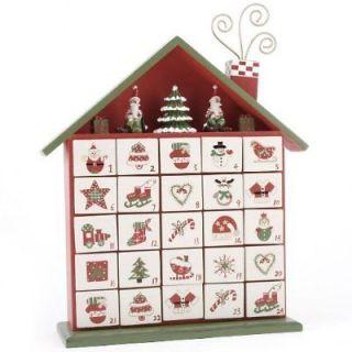 Advent Calendar wooden boxes Christmas Ornament decoration