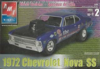 AMT 72 Chevrolet Nova SS Plastic Model Car Kit Scale 1/25 #31547