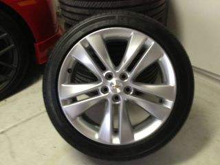 CHEVY CRUZE 18 OEM WHEELS AND TIRES   SET OF 4   LESS THAN 200 MILES
