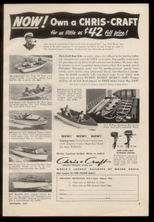 1951 Chris Craft boats & boat kit 6 models photos vintage print ad