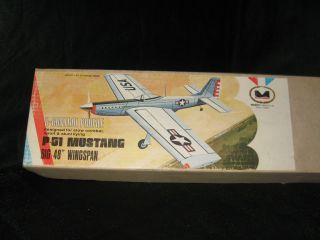 WWII Series P 51 U Control Balsa Wood Model Airplane Kit No.237