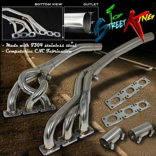 STAINLESS STEEL RACING MANIFOLD HEADER/EXHAUST PIPE 92 98 BMW E36 3