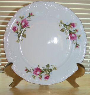 "Plate Wawel Poland 10"" Fine China Dinnerware Gold Trim WAV 10"