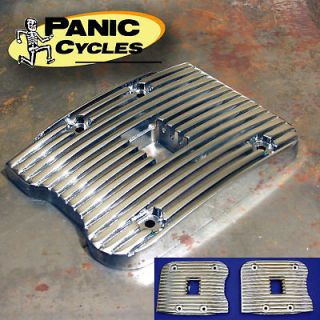 XZOTIC BLACK PANHEAD STYLE ROCKER BOX COVERS FOR HARLEY TWINCAM 99 13