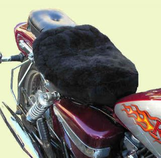 Patchwork Sheepskin Motorcycle Seat Cover. Solo Seat.