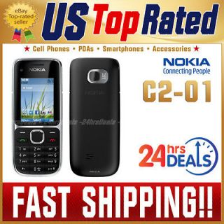NEW UNLOCKED NOKIA C2 01 BLACK GSM QUADBAND 3G AT&T BAR CELL PHONE
