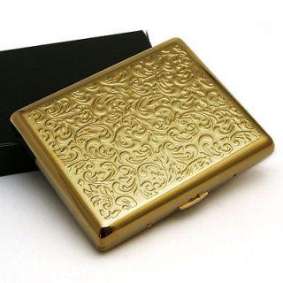 Plated embossed arabesque cigarette case cardcase Holds 20 cigarettes
