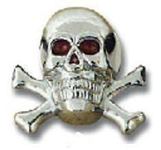 license plate bolts(2) skull cross bone die cast for Peterbilt