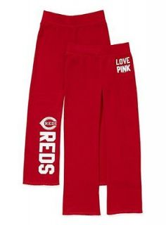 VICTORIA SECRET PINK CINCINNATI REDS SWEAT PANTS SZ.SMALL NWT