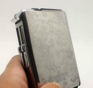 Automatic Cigarette Case With Windproof Lighter Can Hold 10 Cigarettes