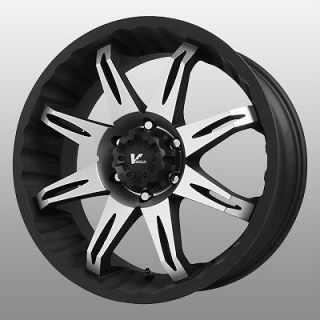 Rock Core Black Wheels Rims 6x5.5 6x139.7 SLX Escalade Astro Van Tahoe