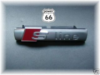 Audi S Line Front Grill Badge for A4 A5 Avant Cabrio S4 Sline NEW