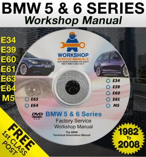 BMW 5 & 6 Series Workshop Service Repair Manual E34 E39 E60 E61 M5 E63