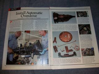 1965 Mustang Ford Overdrive B&M AOD Transmission Install How To