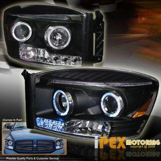 Dodge RAM 06 08 Super LED Daytime Running w/HALO Projector Head Light