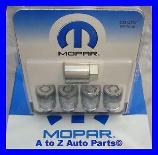 NEW 2011 2013 Dodge Challenger, Charger, Chrysler 300 Wheel Lock Set