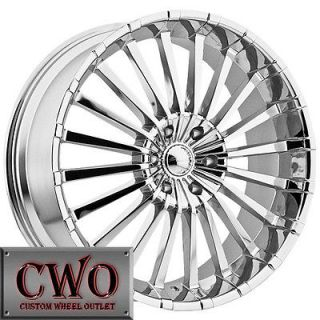 20 Chrome Panther Spline Wheels Rims 5x115 5 Lug CTS STS DTS GRAND