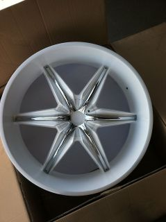 24 GLOSS WHITE RIMS TIRES 6X132 GMC ACADIA TRAVERSE BUICK 255 30 24