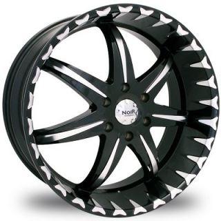 Noir Black Star 5x5.5 Black Wheels Rims 5 Lug Dodge Ram ASPEN 5139.7